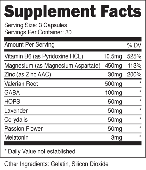 eSupplements.com Ambitropin Supplement Facts